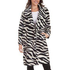 RACHEL RACHEL ROY Water Repellent Zebra Strip Coat